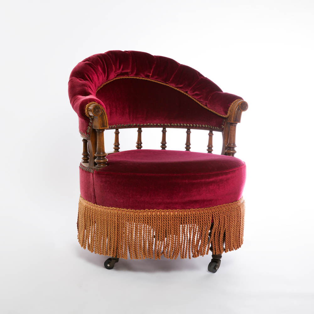 boudoir chair with english registration mark
