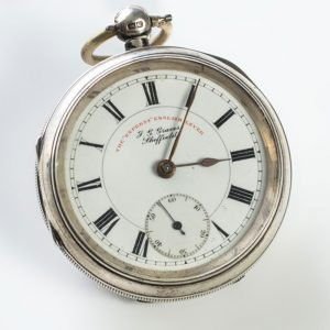 Silver pocket watch J G Graves